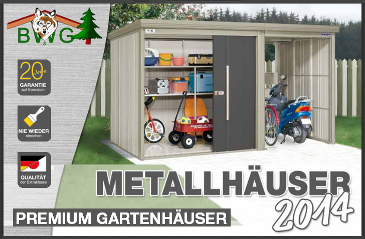 gartenhaus aus metall. Black Bedroom Furniture Sets. Home Design Ideas