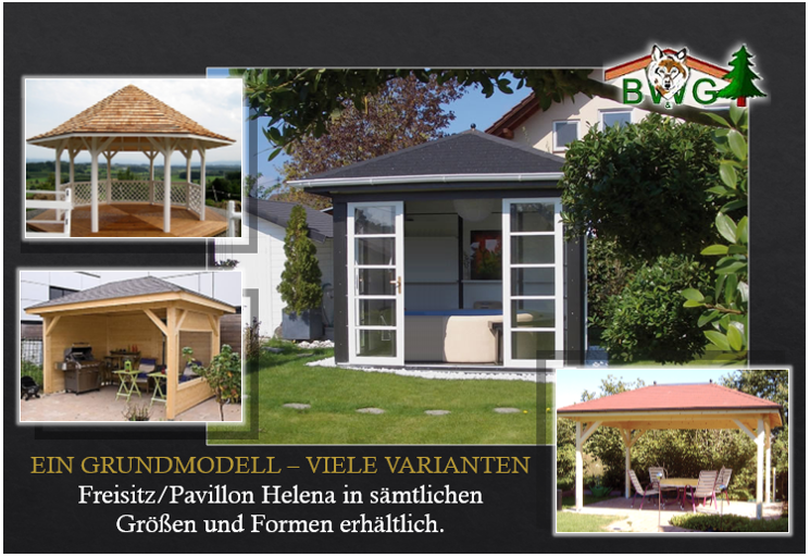 Gartenpavillon Holz Viereckig ~ Pavillon Helena  Pavillon in sämtlichen Größen und Varianten
