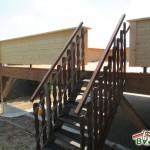 Holzterrasse-Terrassenaufgang