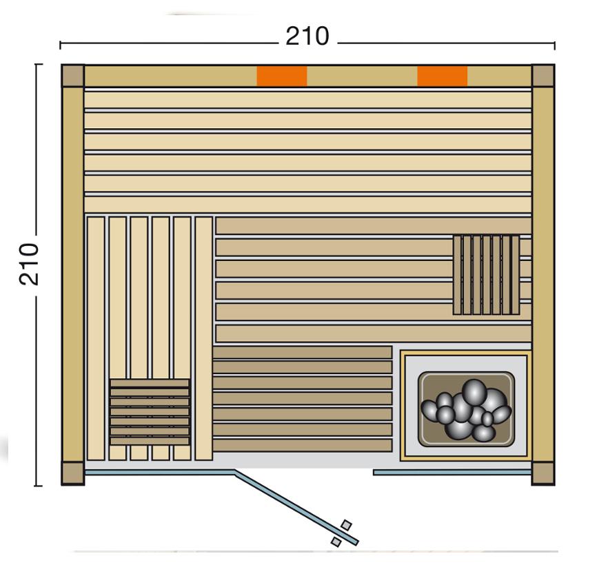 Sauna complete - Grundriss