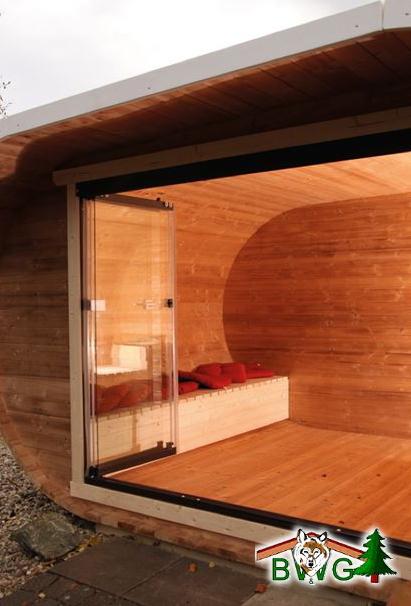 ovales Gartenhaus - Innenansicht