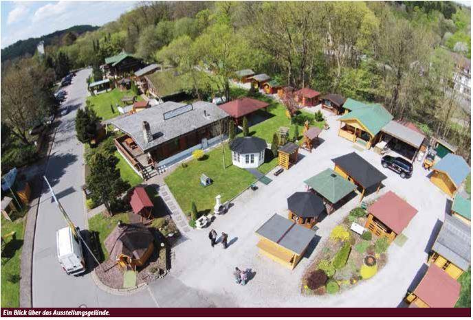 Luftbild Musterhausausstellung Wolffs Blockhaus