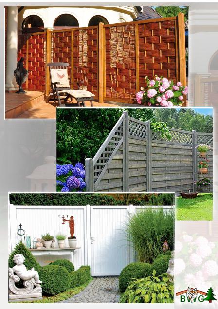 sichtschutzzaun. Black Bedroom Furniture Sets. Home Design Ideas