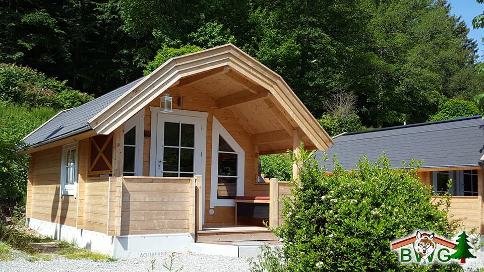 Blockhaus, Blockhütte, Campinghaus